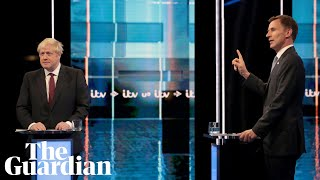 Boris Johnson and Jeremy Hunt face off in ITV Tory leadership debate