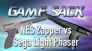 Game Sack - NES Zapper vs Sega Light Phaser - Review