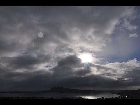 Faroe Islands total eclipse of the sun - from Tórshavn
