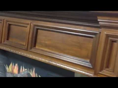 The Double Tellico Mantel in Maple Wood