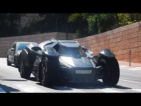 Monaco Supercars 2017 - 3: BATMOBILE, Veyron, 918 Spyder, AMG GTR, Viper...HD