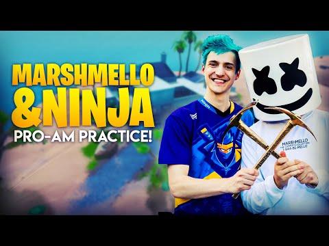 Ninja and Marshmello Pro-Am Practice!!