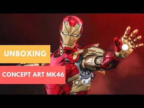 (English)  HOT TOYS MMS489D25    Concept Art Iron Man Mark 46