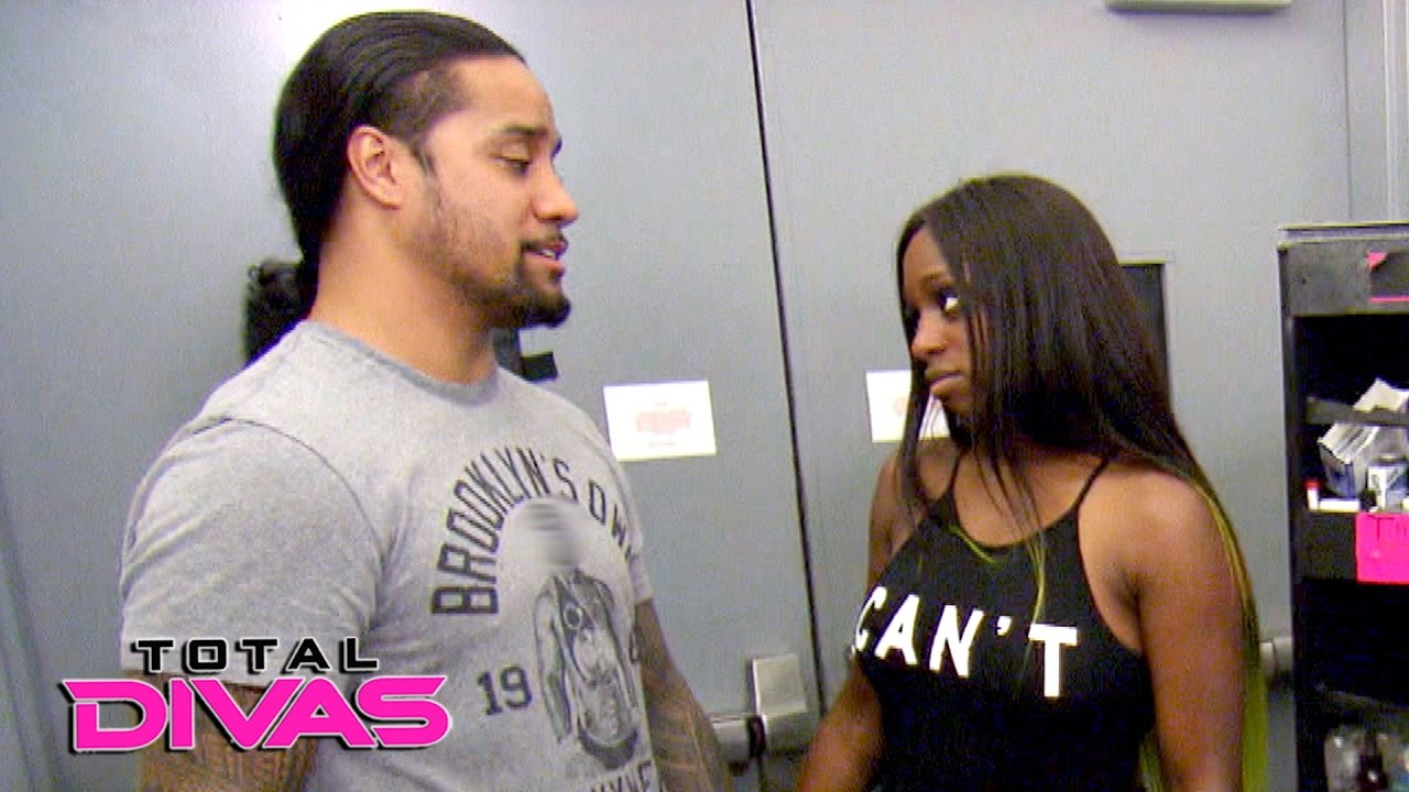 a1636fbbbd823 Naomi talks to husband Jimmy Uso about returning to Orlando  Total Divas  Bonus Clip