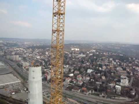 Ada Ciganlija Bridge - Pylon Tip View