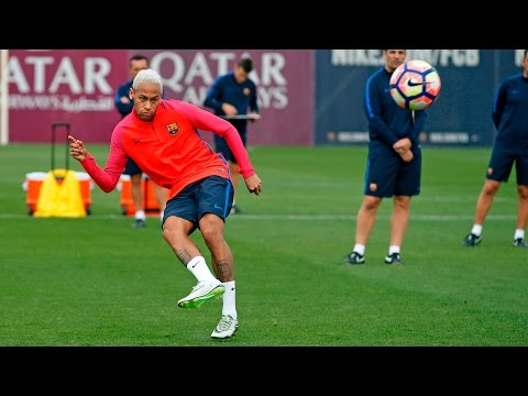 Neymar trains with the best of them