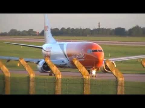 Plane Spotting At East Midlands Airport Freight cargo Action On The 05/06/2014
