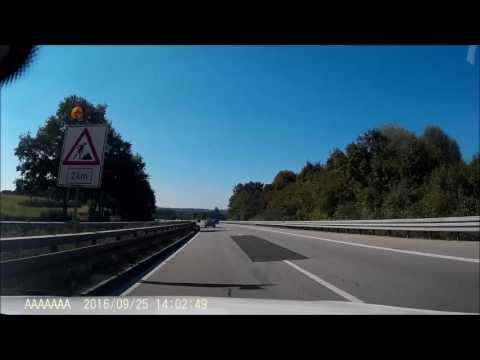 Munich to Fussen - 10x time lapse