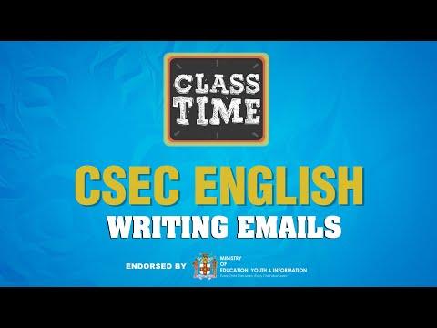 CSEC English - Writing Emails - April 30 2021