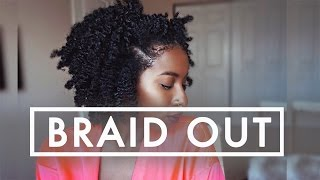super defined braid out on natural hair detailed tutorial