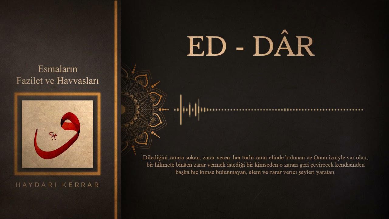 Ed- Darr Esmasının Havassı (sırları)