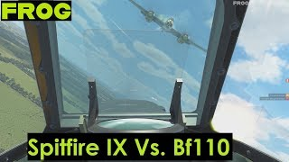 Online PvP: Spitfire IX Vs two Bf110's (IL-2 Kuban)