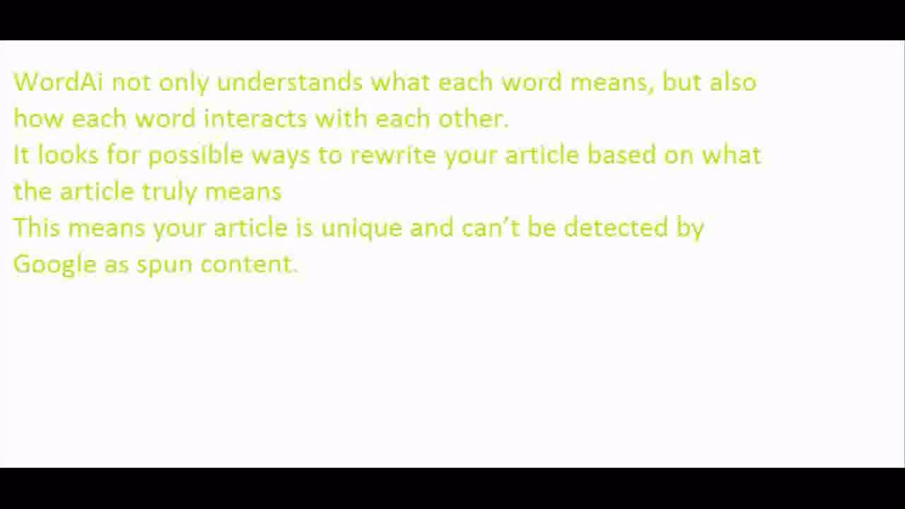 WordAi The Best Article Spinner and Content Writer [FREE TRIAL]