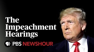 WATCH: The Trump Impeachment Hearings - Day 3 - Williams, Vindman, Volker and Morrison to testify