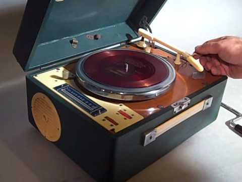 Vintage Mickey Mouse Ge Record Player Turntable Doovi