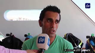 الغطاس عدنان النصرات يتحدى نفسه ويسعى للبقاء تحت الماء 72 ساعة  - (26-6-2019)