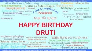 Druti   Languages Idiomas - Happy Birthday