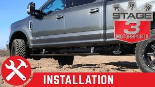2017 F250 and F350 AMP Research PowerStep Plug N Play Running Boards Install