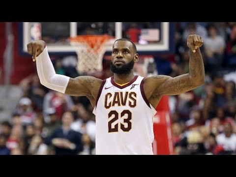 online retailer 59fb5 c4957 LeBron James 57 Points! 29K Career Points, 7th in NBA History! Cavs vs  Wizards 2017-18 Season