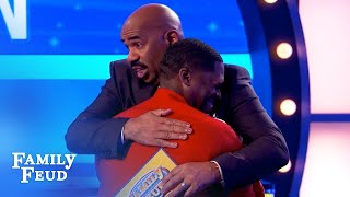 Can Andre survive this answer? Hysterical Fast Money! | Family Feud