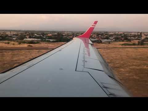Georgian Airways Embraer 190 Landing Yerevan Zvartnots Airport