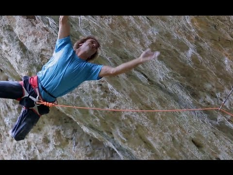 Chris Sharma and Dave Graham en el primer ascenso de Dessèchement Planétaire  8c+- Petzl RocTrip 2013
