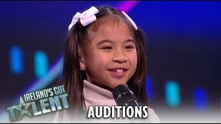 Liv: TINY CUTE 8 Year Old SHOCKS Judges With Her Big Voice! | Ireland's Got Talent 2019