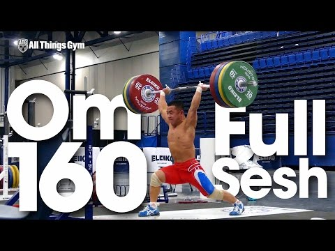 Om Yun Chol (56kg, North Korea) Full Clean & Jerk Session up to 160kg 2015 World Weightlifting