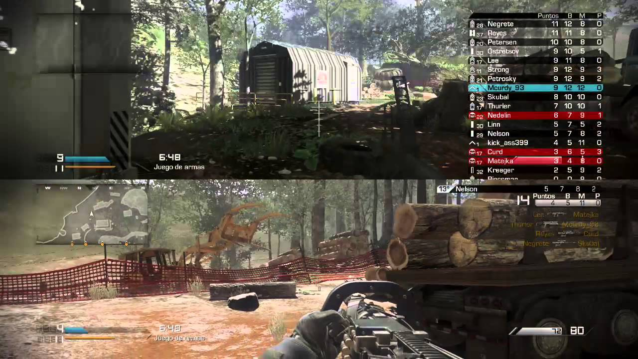 Call Of Duty Ghost Juego De Armas 2 Jugadores Ps4 Youtube