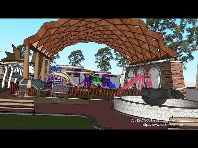 3D presentation for Bongaon Amusement Park