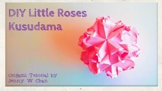 Diy Origami Ball - Roses - Mother's Day Crafts, Valentine's Day, Wedding, Paper Crafts Tutorial