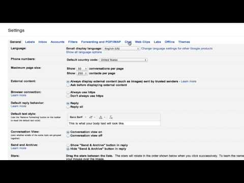 How To Change Your Gmail Chat Settings : Google Chrome & Other Tech Tips