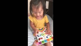 2 year old saying colors
