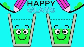 Happy Glass - Gameplay Walkthrough Part 1 Level 1- 38 - DRAW A LINE TO FILL THE GLASS