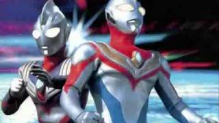 ultraman dyna and ultraman tiga Ending movie song