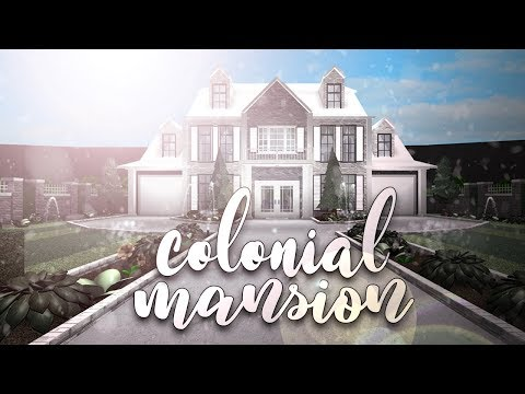 Roblox Bloxburg Colonial Mansion House Build Youtube