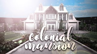Roblox | Bloxburg: Colonial Mansion | House Build