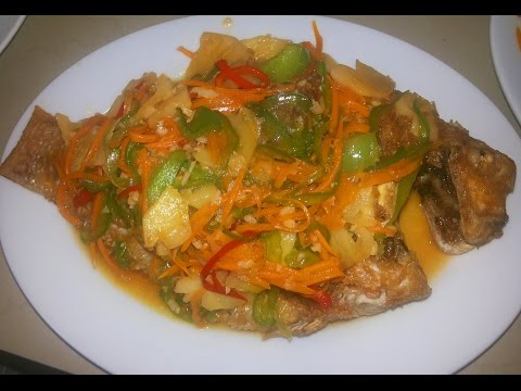 Asian Food - Cambodian Family Food - Sweet And Sour Fried Fish - Youtube