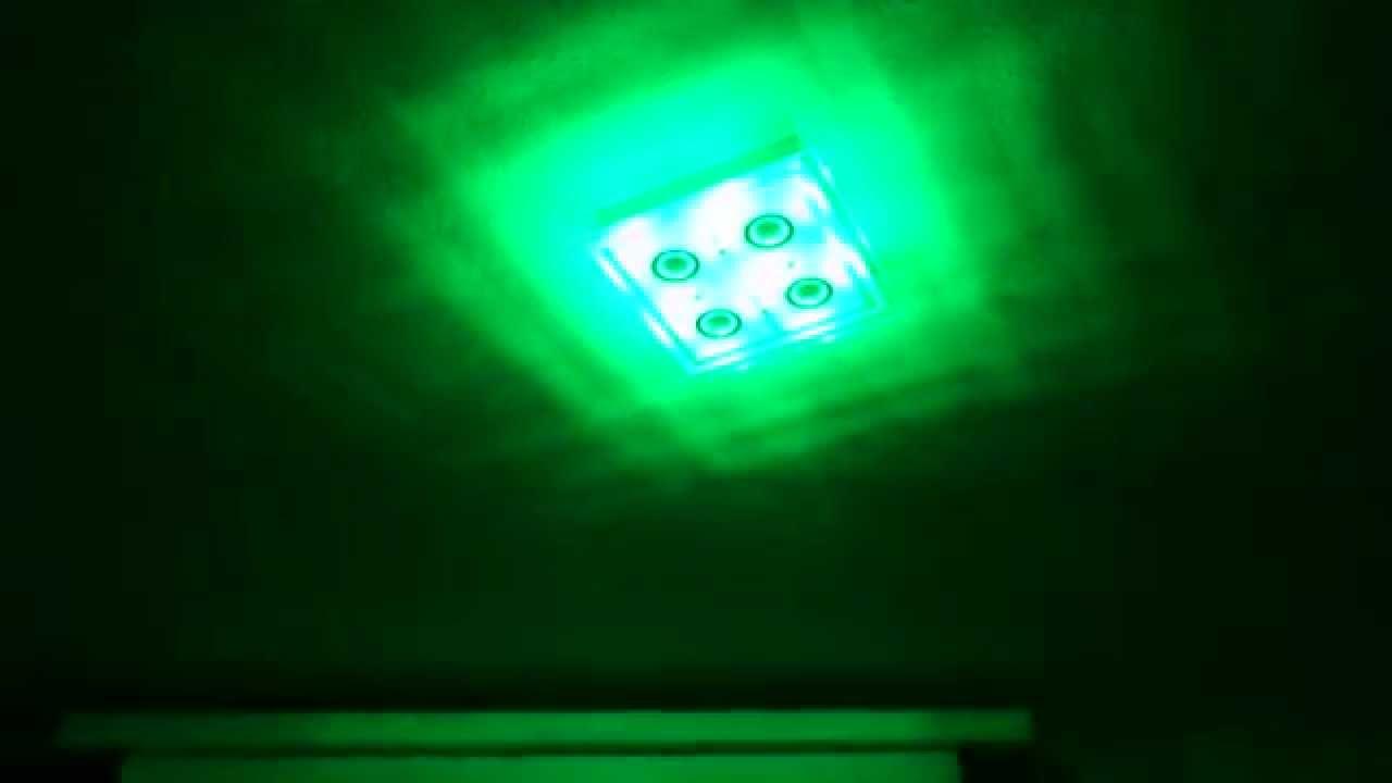 Rgb led deckenlampe mit 4 hp led spots und fernbedienung for Deckenlampe mit led