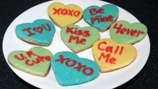 Valentine's Day Conversation Heart Cookies!