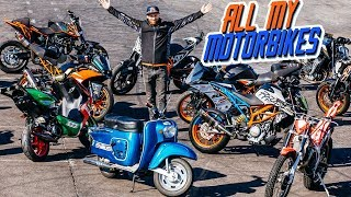 MY 16 MOTORBIKES COLLECTION | RokON vlog #78