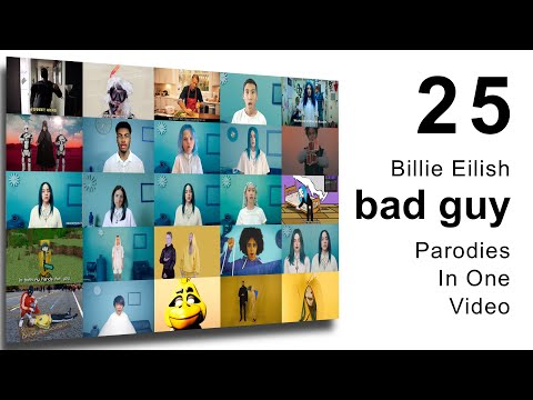 Billie Eilish - Bad Guy - 25 Parody Videos At Once