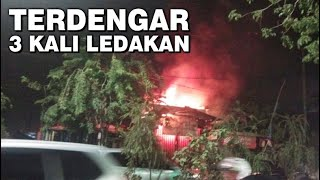Gudang Bahan Material di Gunungsari Surabaya Terbakar, Terdengar 3 Kali Ledakan