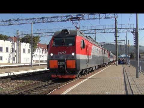 Отправление 2ЭС4К-114 с поездом №477 Челябинск — Адлер