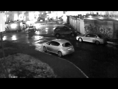 Камера 1Mpx (1280x720) Ночью во дворе жилого дома ИК=10М