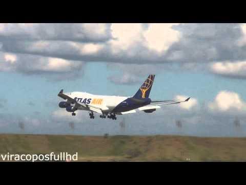 Pousos e Decolagens ATLAS-AIR 747-400 HD