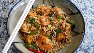 Shrimp Yakisoba Recipe (fried Noodles With Shrimp) Japanese Noodles