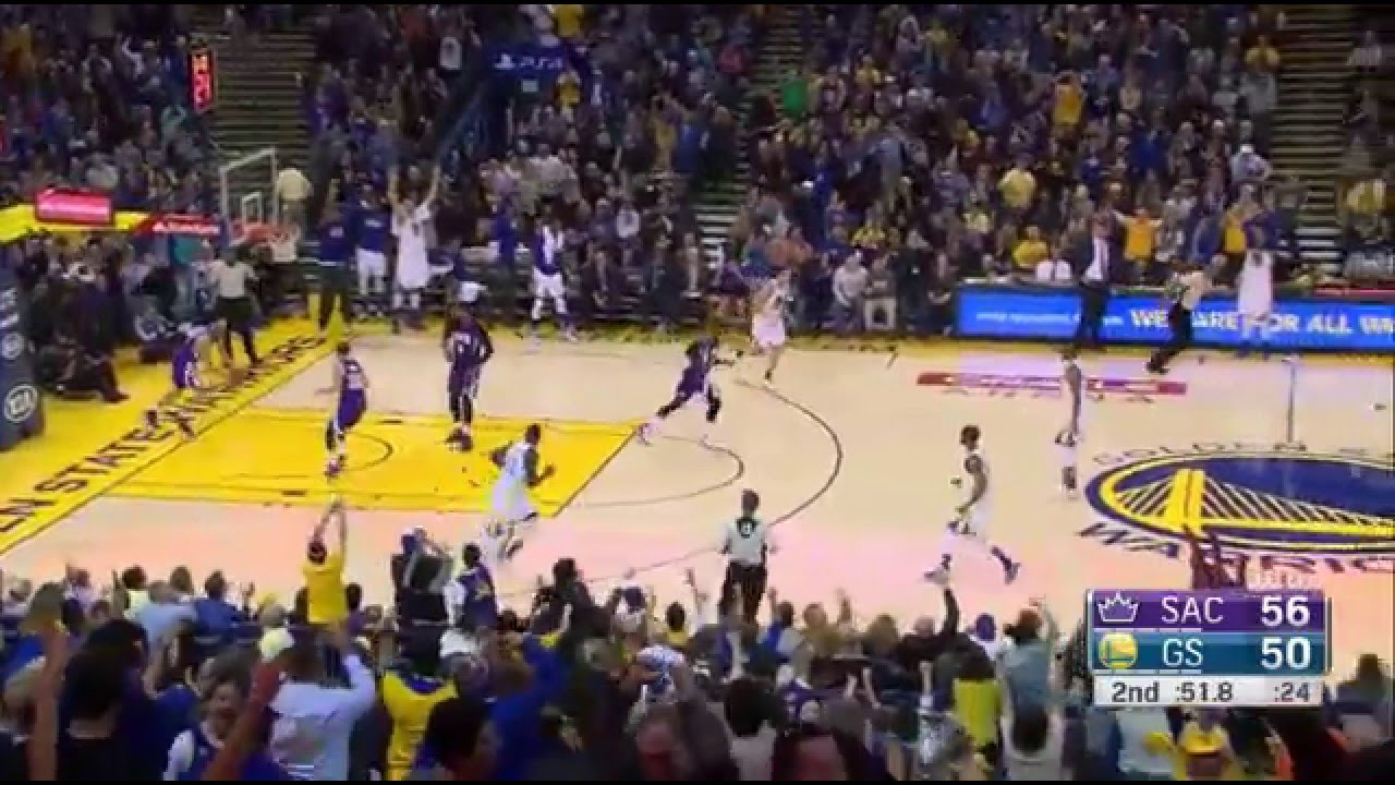 3654a7ec738 Stephen Curry 17 pts in 3 minutes 2015.12.28 vs Kings - YouTube