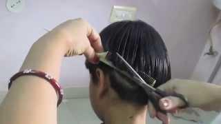 Boy cut haircut or Diana cut haircut for girls -part 2