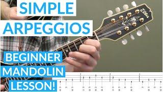 Simple Arpeggios Beginner Mandolin Lesson
